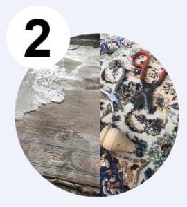 Teppichreparatur oder Teppichreinigung